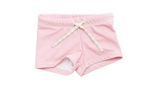 harry & pop budgie brief in palm cove pink | UPF 50+ swimwear for kids, toddlers, baby