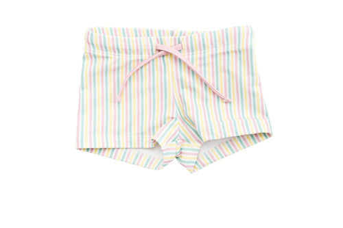 harry & pop budgie brief in portsea pink stripe | UPF 50+ swimwear for kids, toddlers, baby