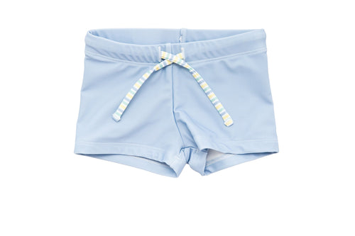 harry & pop budgie brief in byron bay blue | UPF 50+ swimwear for kids, toddlers, baby