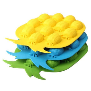 12-Cube Pineapple Silicone Ice Cube Mold