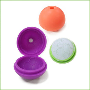 Silicone Soccer-Shaped Football Ice Cube Mold with Cover