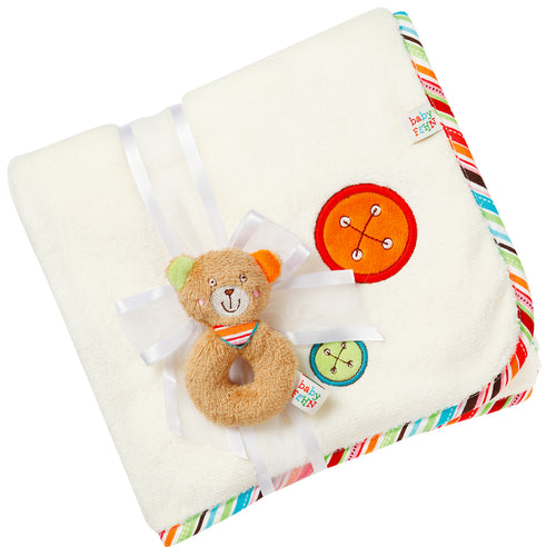 FEHN CUDDLE BLANKET (OSKAR TEDDY)
