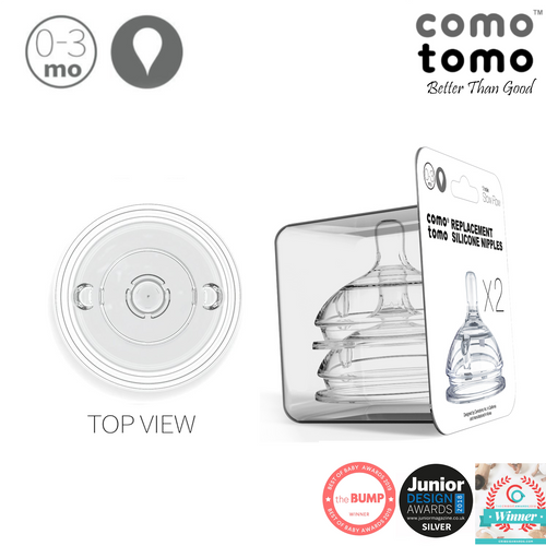 Comotomo Nipple Pack (twin pack) - 1 hole