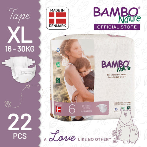 [BUY 1 FREE 1] Bambo Nature Dream (XL) - Size 6, 22pcs/pack