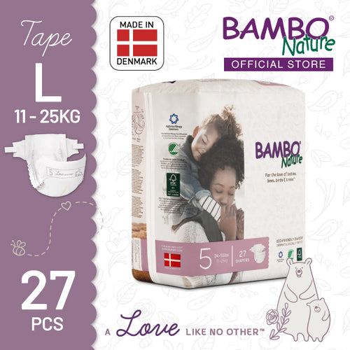 [BUY 1 FREE 1] Bambo Nature Dream Junior (L) - Size 5, 27pcs/pack