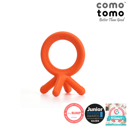 Comotomo Silicone Baby Teethers (Orange)