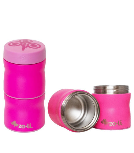 ZoLi POW THIS & THAT Pink Modular Vacuum Insulated Stackable Food Containers