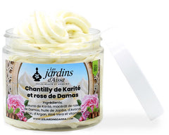 chantilly de karite bio rose de damas les jardins aissa blog