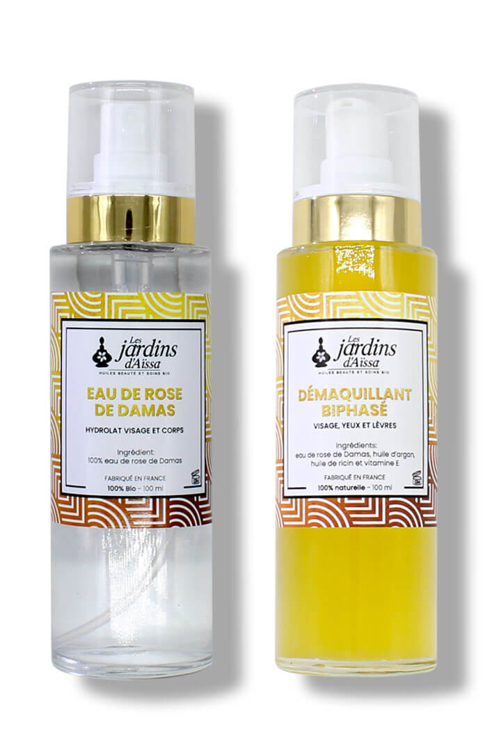 Duo démaquillant biphasé, tonifiant et hydratant Bio naturel