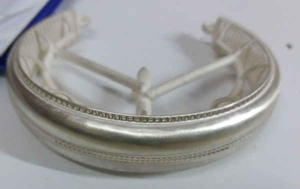 Bracelet casted in Silver of PowerCast Burn Resin