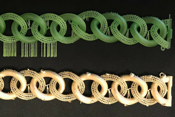 Gold bracelet casting using PowerCast Burn 3d printer Resin
