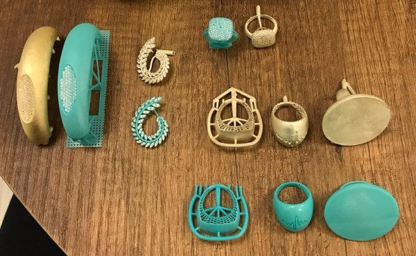 Sample of 3d printed jewelry with PowerCast Wax resin