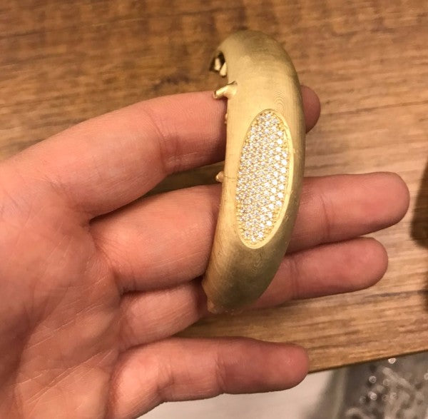 Gold casted bracelet from 3d printed PowerCast resin