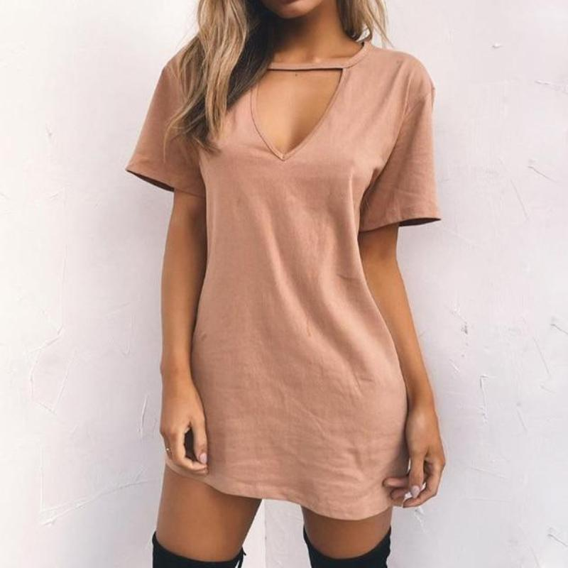 Sexy V Neck Summer Dress
