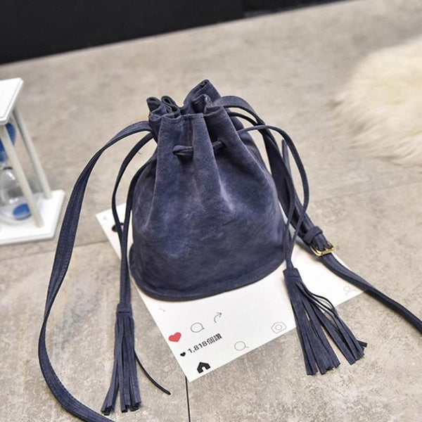 Faux Suede Bag
