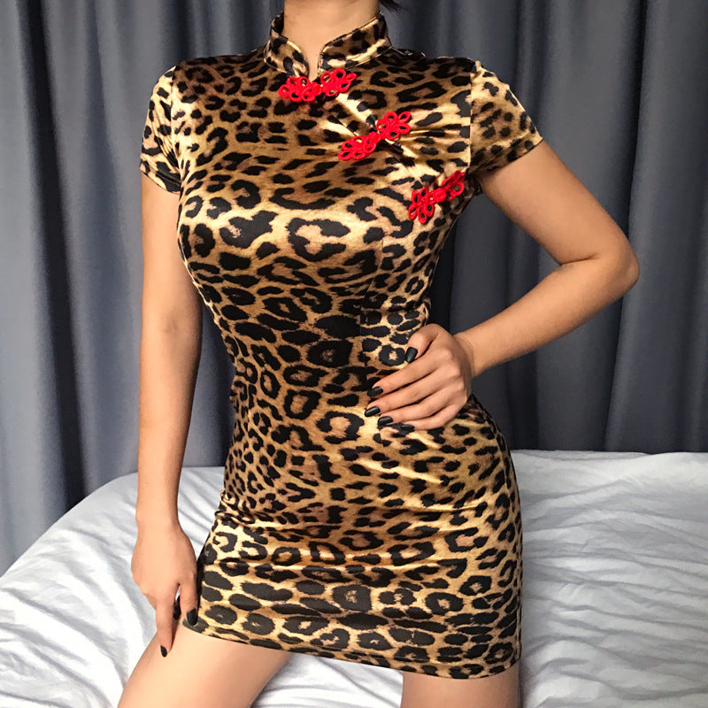 Short Leopard Dress
