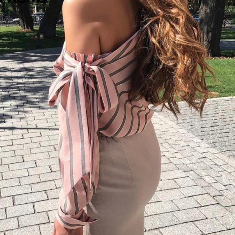 Striped Bow Blouse