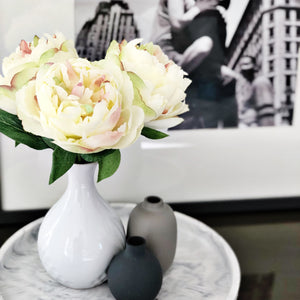 Petite Cream Peony Bouquet - Faking Beautiful