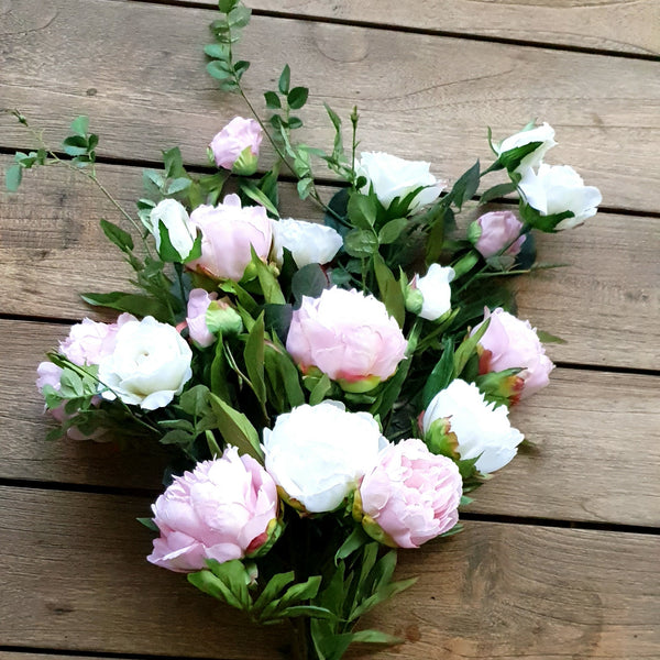 Deluxe Wild Rose & Mixed Peony Bouquet