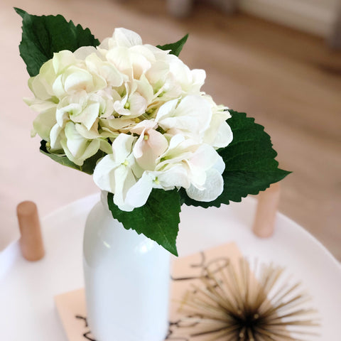 Cream Pink Hydrangea - Faking Beautiful