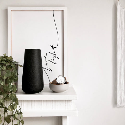 Essential Ceramic Vase in Black - Faking Beautiful