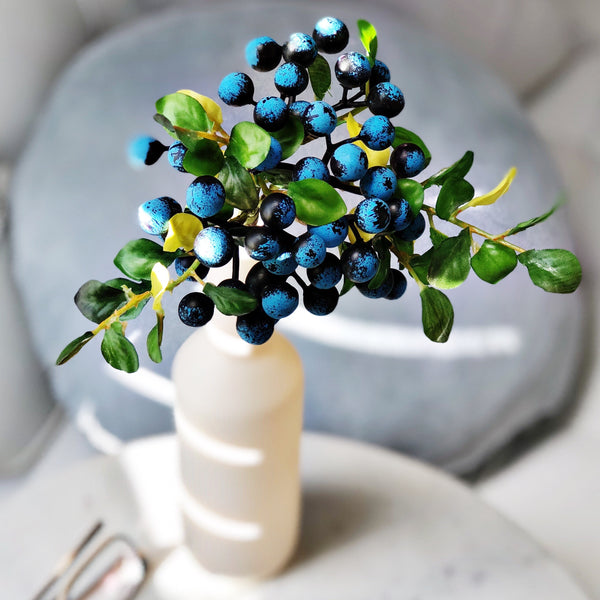 artificial blueberries Faux flowers