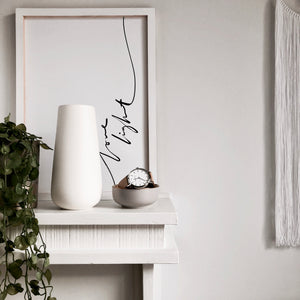 Ceramic Vase in White