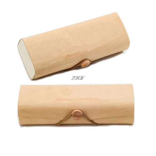 2018 Portable Wooden Sunglasses Box Case Eye Glasses Clam Shell Protector JUL5_25