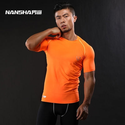 Brand Compression Shirt Short Sleeves