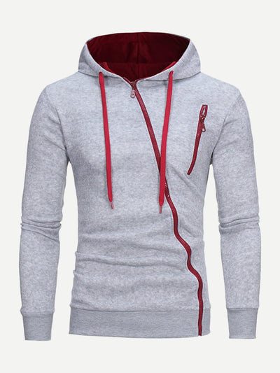 Men Zip Up Hooded Sweatshirt