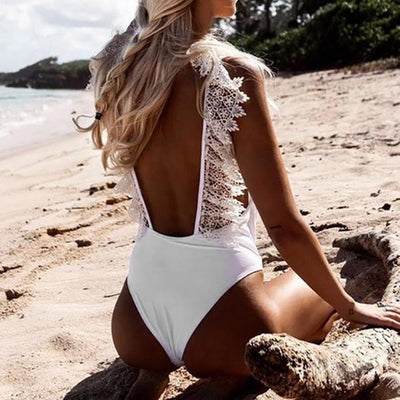 Beautiful Newest Women V Neck Lace Bikini Monokini