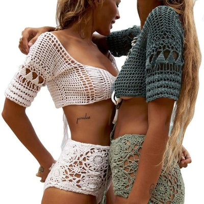 Exquisite Workmanship Crochet Women Knit Bralette