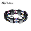 New Weight Loss Round Colorful Stone Magnetic Therapy Bracelet Luxury Health Care Charm Magnetic Hematite Bracelet For Men Women - Slim Body Secret