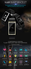 NEW Bracelet N108 Fit Bit Pedometer Fitness Tracker Smart Bracelet Heart Rate Monitor Bluetooth Fitness Watch Blood Pressure - Slim Body Secret