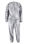 Heavy Duty Fitness Weight Loss Sweat Sauna Suit Exercise Gym Anti-Rip Silver L-4XL - Slim Body Secret