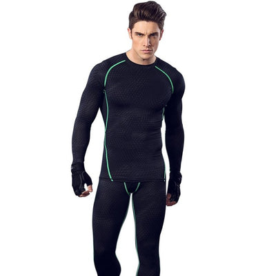 Men's Compression Top Long Sleeve Slim Fit T-shirt Breathable Quick Dry Men Tee Corset Men Bodysuit Weight Loss Shirt - Slim Body Secret