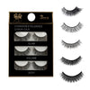 3 Pairs Natural False Eyelashes Beauty Make up Thick Cross Voluminous Messy Style - Slim Body Secret