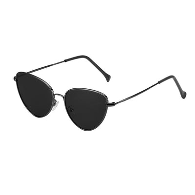 Fashion Vintage Cat Eye Sunglasses Mirror Lens Metal Frame Eyewear UV 400 Protection for Male Female - Slim Body Secret