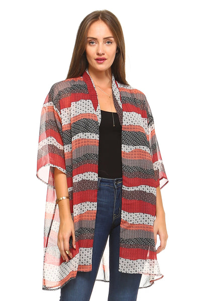 Women's Sheer Kimono Cardigan - Slim Body Secret