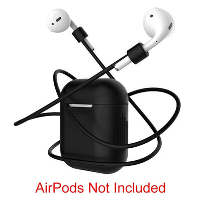 360 Protection cover for Apple Airpods Headphone Wireless Bluetooth Earphone Case Anti-lost Rope Rubber Loop air pods coque capa - Slim Body Secret