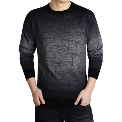 Men's Fashion Business Printed Casual Long Sleeve Slim Shirts Tops Blouse