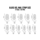 Dashing Diva Singapore Gloss Nail Palette Gel Strip Sizes
