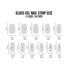 Load image into Gallery viewer, Dashing Diva Singapore Gloss Nail Palette Gel Strip Sizes