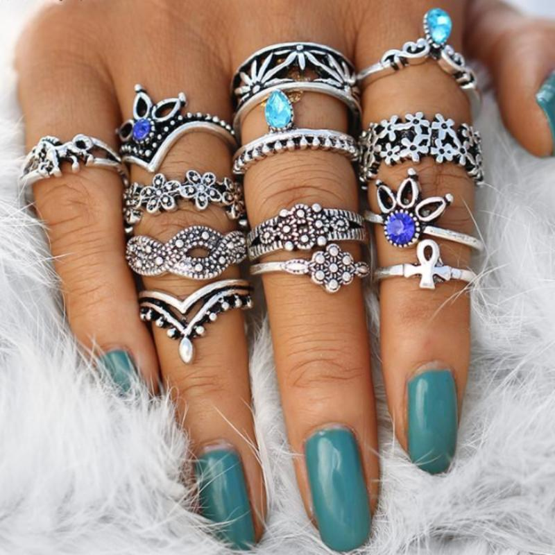 Flowers Rings Set
