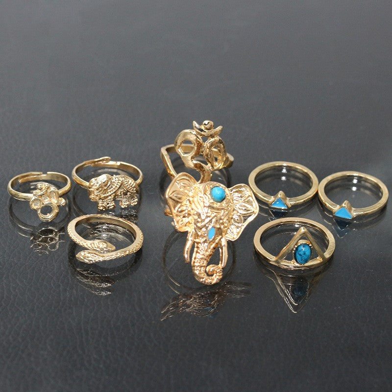 Tribal Hippie Ring Set