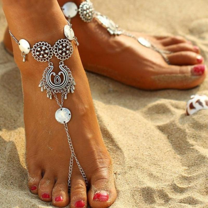 Silver Coin Anklet