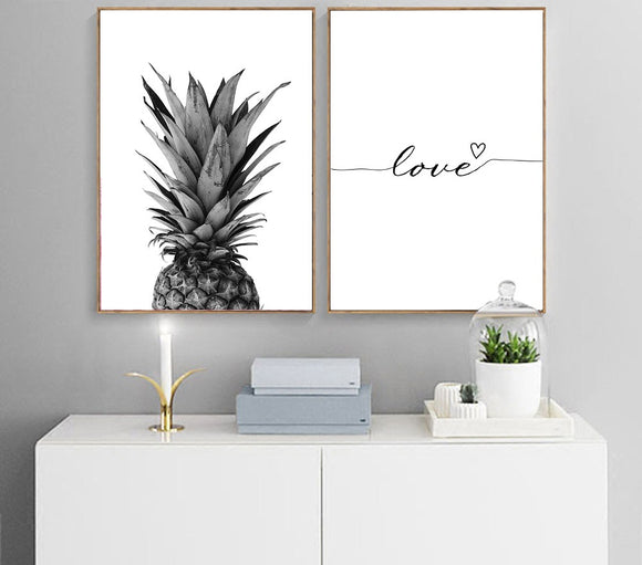 Toiles Love Ananas