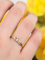 Old English Custom Name Ring