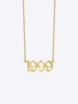 Old English Year (1985-2019) Necklace