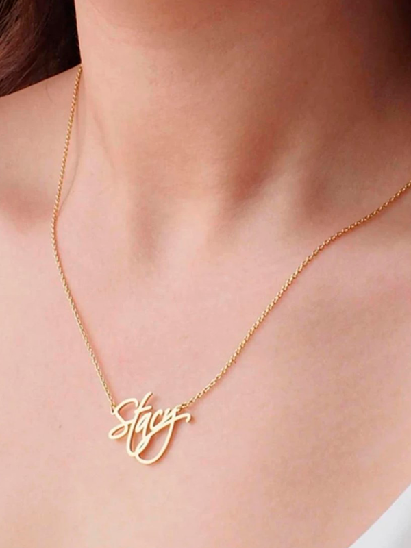 Calligraphy Script Necklace